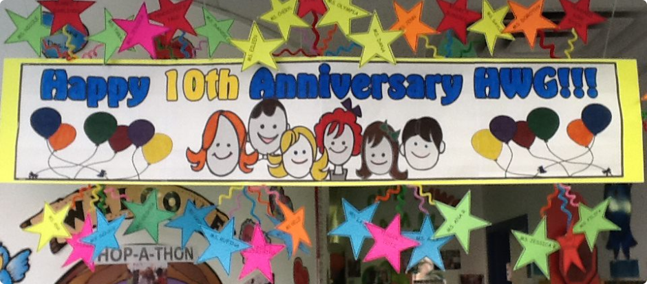 10th Anniversary poster of HWG