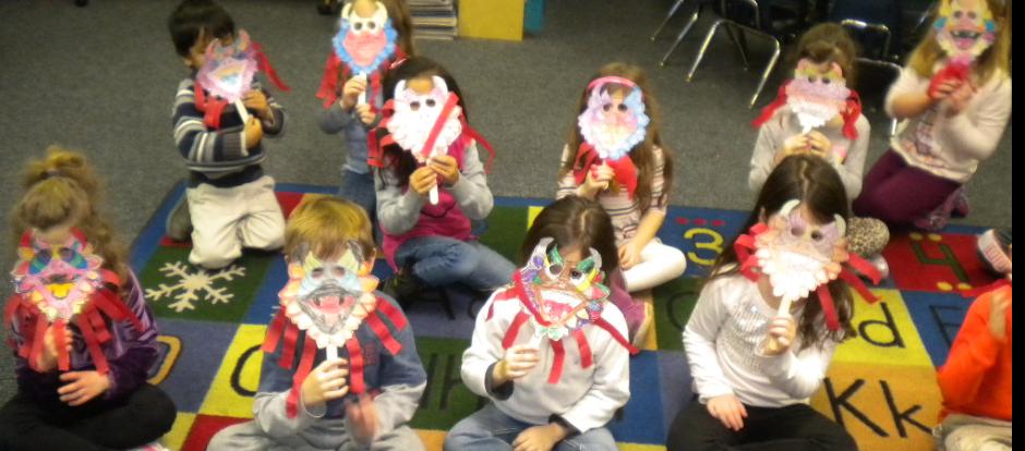 children wearing their mask