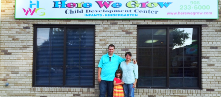 Parents and their child at HWG