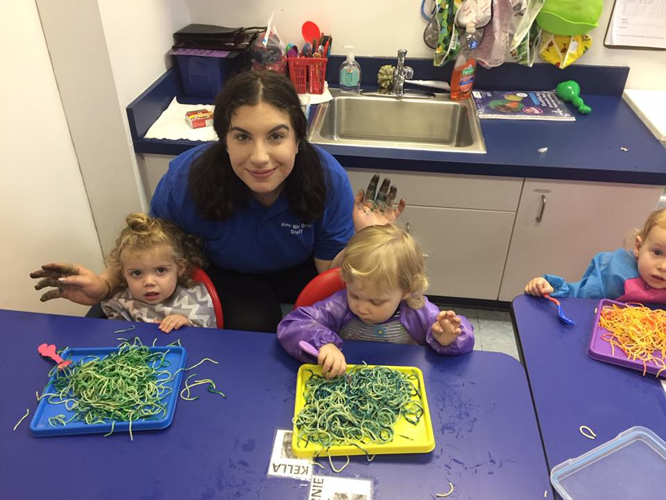 Fun with spaghetti! - Sensory